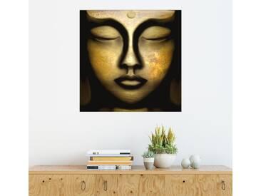 Posterlounge Wandbild - Christine Ganz »Buddha-Ankommen«, bunt, Alu-Dibond, 120 x 120 cm, bunt