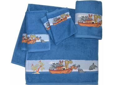 Dyckhoff Handtuch Set, »Arche«, mit schöner Bordüre und Schiffs Motive, blau, 6tlg.-Set (siehe Artikeltext), blau