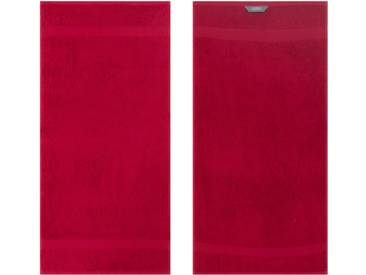 Egeria Badetuch »Diamant«, in Uni gehalten, rot, Frotteevelours, dunkelrot