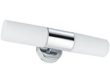 Paulmann LED Wandleuchte »Spiegelleuchte Lenia max. 2x20W Chrom Opak Metall Glas E14«, 2-flammig, silberfarben, 2 -flg. /, chromfarben