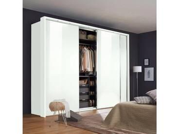 nolte® Möbel Schwebetürenschrank (2-oder 3-türig) »Marcato 1C« mit Fronten aus Glas, Korpus polarweiß, 3-türig, Breite 300 cm, 3-türig, Breite 300 cm