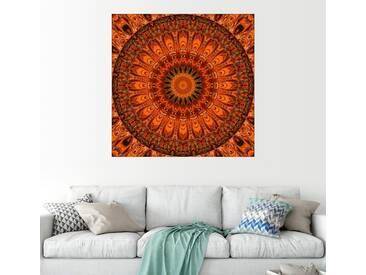 Posterlounge Wandbild - Christine Bässler »Mandala Ich fühle mich gut«, braun, Acrylglas, 120 x 120 cm, braun