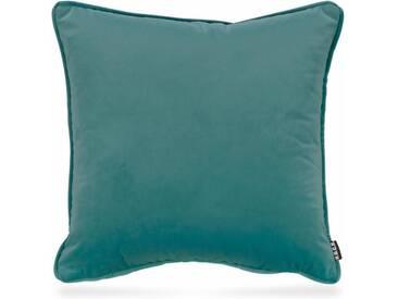 H.O.C.K. H.o.c.k. Kissen »Nobile Samt«, blau, aquamarine 021