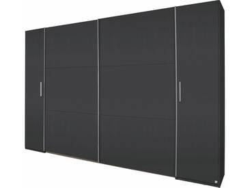 rauch PACK´S Dreh-/Schwebetürenschrank »Kronach«, grau, Breite 312 cm, 4-türig, Ohne Spiegel, Ohne Spiegel, graumetallic