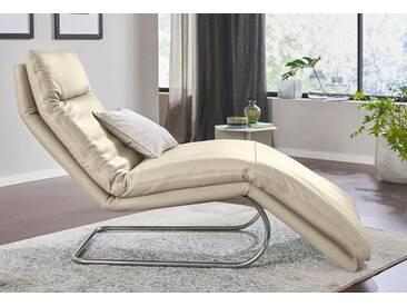 W.SCHILLIG Relaxliege »jill« mit Wippfunktion, inklusive Rücken-, Fußteil- & Kopfteilverstellung, natur, elfenbein
