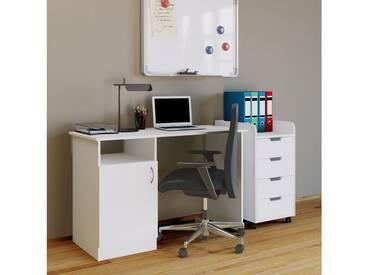 VCM Schreibtisch Desas, weiß, Weiß