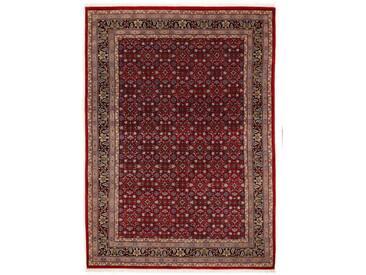 OCI DIE TEPPICHMARKE Wollteppich »Himla Herati«, rechteckig, Höhe 20 mm, handgeknüpft, rot, 20 mm, rot-blau