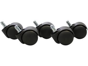 Amstyle Teppichbodenrollen, »SPM1-914«, gebremst, schwarz, schwarz