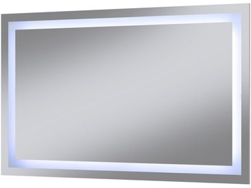 welltime WELLTIME Badspiegel »Trento«, LED-Spiegel, 100 x 60 cm, silberfarben, silberfarben