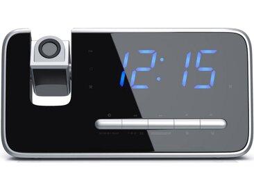 """Brandson FM Radiowecker mit 180° Flip-Projektionsanzeige »4,7"""" LED-Display / Auto/OFF-Dimmer«, schwarz, schwarz/silber"""