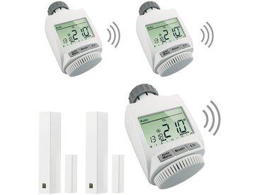 MAX! Smart Home Set »Heizkörperlösung Premium«, 5-tlg., Heizkörperthermostat / Fensterkontakt, weiß, weiß