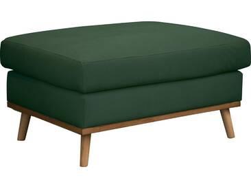 DELAVITA Delavita Hocker »Sarah« in skandinavischem Design mit Holzbeinen, grün, grün