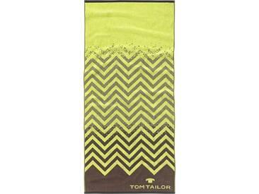TOM TAILOR Badetuch »Sport«, mit Zick-Zack Design, grün, Walkfrottee, limette