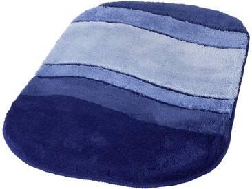 Kleine Wolke Badematte »Siesta« , Höhe 25 mm, rutschhemmend beschichtet, fußbodenheizungsgeeignet, blau, 25 mm, azur-blau