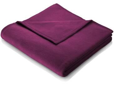 BIEDERLACK Wohndecke »Cotton Home«, im Uni Design, lila, Baumwolle-Kunstfaser, lila
