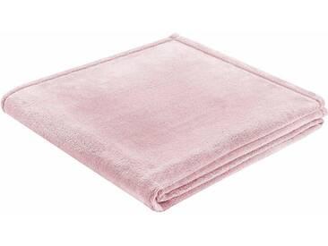 BIEDERLACK Wohndecke »King Fleece«, leichte Qualität, rosa, Kunstfaser, rosa