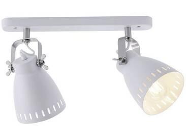 Leuchten Direkt LEUCHTEN DIREKT Deckenleuchte, Retro Design 2-flammig »EVA«, weiß, weiss