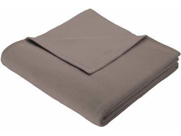 BIEDERLACK Wohndecke »Cotton Home«, im Uni Design, braun, Baumwolle-Kunstfaser, taupe