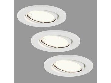 Briloner Leuchten LED Einbaustrahler »Mateo«, 3-flammig, Einbauleuchten 3er Set schwenkbar IP23 Ø 8,6cm