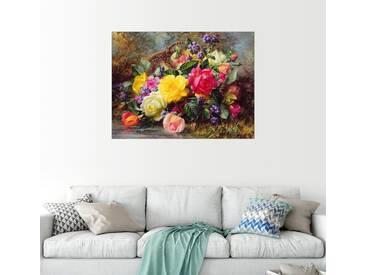 Posterlounge Wandbild - Albert Williams »Rosen an einem Teich«, bunt, Acrylglas, 160 x 120 cm, bunt