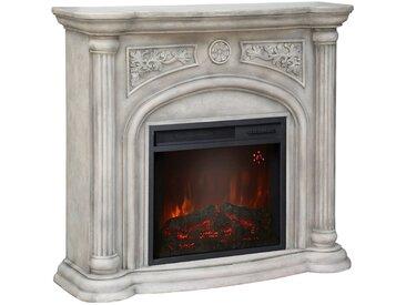 El Fuego EL FUEGO Elektrisches Kaminfeuer »Venedig«, cremeweiß, mit Fernbedienung, weiß, weiß