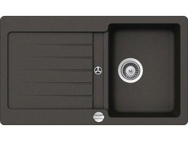 Schock SCHOCK Granitspüle »Family Big«, ohne Restebecken, 86 x 50 cm, grau, ohne Restebecken, Asphalt x asphalt