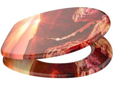Sanilo SANILO WC-Sitz »Grand Canyon«, mit Absenkautomatik, orange, orange/braun