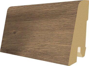 EGGER Sockelleiste »L424 - Murten Eiche braun«, 6 cm Sockelhöhe, 240 cm Länge, braun, braun