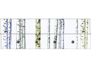 Artland Wandgarderobe »Jule: Abstrakte Birke«, weiß, 30 x 90 x 2,8 cm, Weiß
