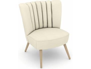 Max Winzer® build-a-chair Stuhlsessel »Aspen« im Retrolook, zum Selbstgestalten, natur, Korpus: Flachgewebe 16452 creme, Flachgewebe 16452 creme