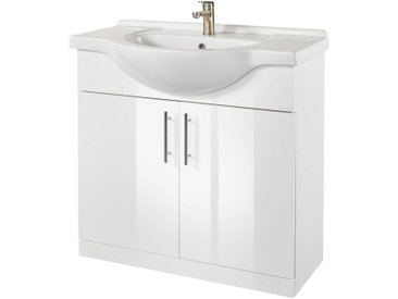 ORISTO Waschplatz-Set »Light«, Waschtisch, 92 cm breit, weiß, weiß