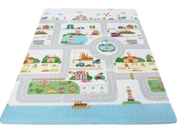 Andiamo Kinderteppich »Spielmatte Straße«, rechteckig, Höhe 8 mm, Straßen-Spielmatte, abwischbar