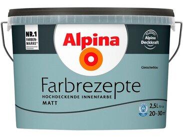 Alpina ALPINA Wand- und Deckenfarbe »Farbrezepte - Gletscherblau«, 2,5 l, matt, blau, blau