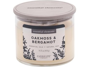 Candle-lite™ Duftkerze »Essential Elements - Oakmoss & Bergamot«, weiß, weiß
