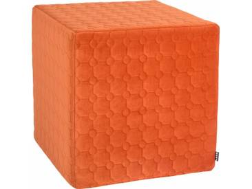H.O.C.K. Hock Sitzwürfel »Soft Nobile« 45/45/45 cm, braun, terrakotta