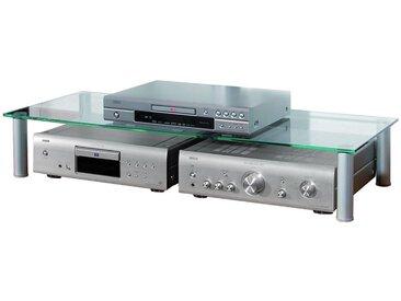 """VCM TV Glasaufsatz """"Maxi"""" Tisch Aufsatz Fernseh Erhöhung, silberfarben, Aluminium"""
