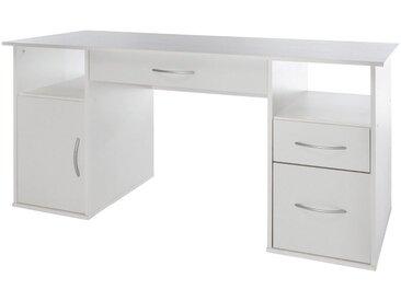Wilmes Nähmaschinen-Schreibtisch mit 4 Fächern, Maße145x60x72,5 cm, weiß, weiß