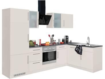 wiho Küchen Winkelküche »Cali«, ohne E-Geräte, Stellbreite 280 x 170 cm, natur, Cashmere