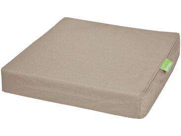 OUTBAG Auflage »Tile square pillow PLUS«, wetterfest und robst, für den Außenbereich, B/L: 45x45 cm, braun, 1 Auflage, braun