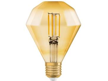 Osram LED-Lampe, Vintage-Edition »Vintage 1906 DIAMOND 40 4.5 W/2500 E27 GOLD«, goldfarben, gold
