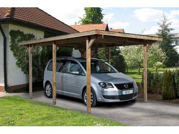 weka WEKA Einzelcarport »Leif 1«, BxT: 300x500 cm, braun, 389 cm, hellbraun