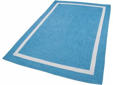 THEKO Teppich »Benito«, rechteckig, Höhe 6 mm, In- und Outdoor geeignet, blau, 6 mm, blau