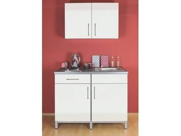 MENKE MÖBELWERKE Küchenzeile mit E-Geräten »Rack-Time Single 120«, weiß, ohne Aufbauservice, weiß