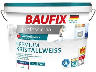 Baufix BAUFIX Wand- und Deckenfarbe »professional«, Premium Kristallweiß, 10 L, weiß, 10 l, weiß