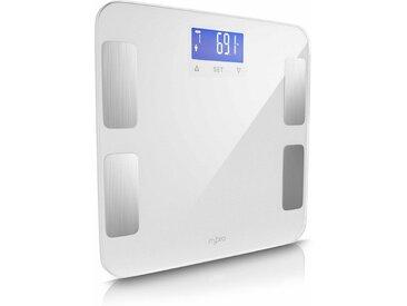 MyBeo Digitale Diagnosewaage mit LCD-Display »7 Indikatoren / max. 10 individuelle Profile«, weiß, weiß