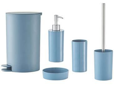 Zeller Present Zeller Bad-Accessoire-Set »Nova«, 5-teilig, blau, blau