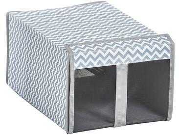 Zeller Present ZELLER Aufbewahrungsbox »Schuh-Box«, 2er Set, grau, weiß/grau