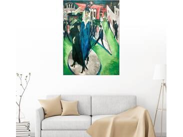 Posterlounge Wandbild - Ernst Ludwig Kirchner »Potsdamer Platz«, bunt, Holzbild, 60 x 80 cm, bunt
