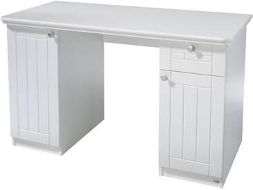 Roba® Roba Schreibtisch »Florenz«, Breite 125 cm, weiß, weiß