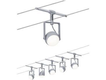 Paulmann LED Deckenleuchte »Seilsystem OrbLED 5x4W Weiß/Schwarz/Chrom«, Seilsystem, 5-flammig, silberfarben, 5 -flg. /, chromfarben